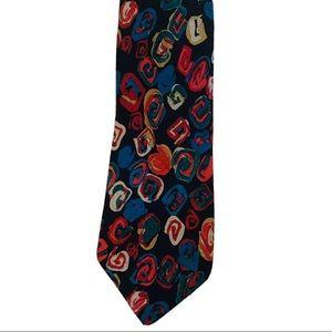 Mondo di Marco Vintage Silk Neck Tie Geometric